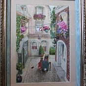 Картины и панно ручной работы. Ярмарка Мастеров - ручная работа Кроличий город. Handmade.