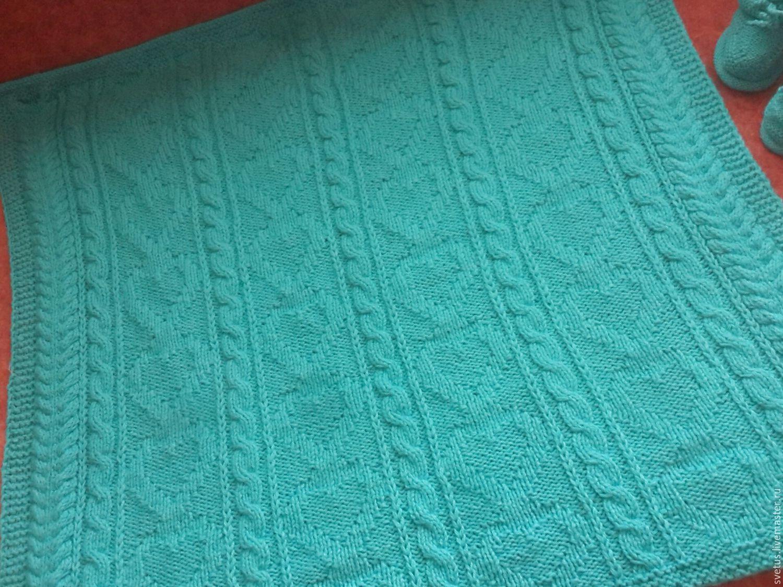 Вязание детских одеялок спицами
