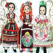 Folk Dolls handmade. Livemaster - original item Bulgarian, Hungarian, Moldavian-folk dolls. Handmade.