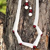 Украшения handmade. Livemaster - original item Cranberry in the Sahara - necklace and earrings. Handmade.