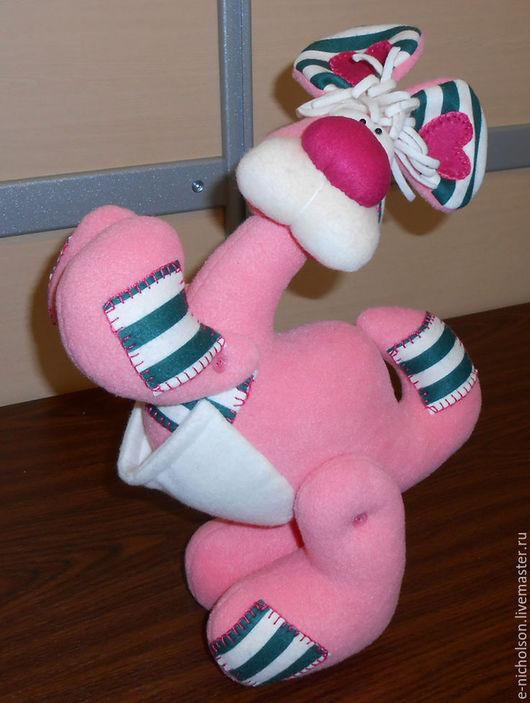 Мягкая игрушка розовая кенгуру Кенгуритта. Екатерина Николсон.