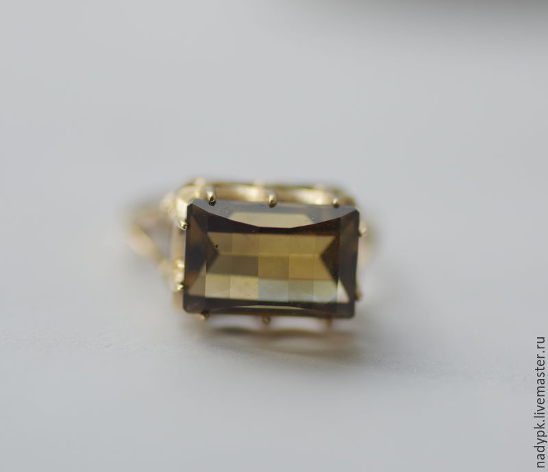 Ring with citrine 'Crowned head', gold, Rings, Moscow, Фото №1