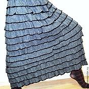 Одежда ручной работы. Ярмарка Мастеров - ручная работа Юбка трикотажная. Handmade.