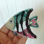 Брошь рыбка Скалярия