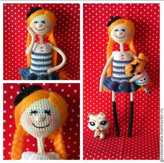 Человечки ручной работы. Ярмарка Мастеров - ручная работа. Купить Кукла Морячка. Handmade. Тёмно-синий, кукла из пряжи
