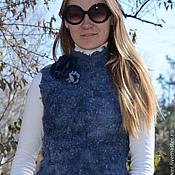 """Одежда ручной работы. Ярмарка Мастеров - ручная работа Жилет валяный """"Blue """". Handmade."""