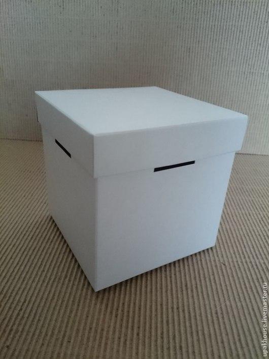Упаковка ручной работы. Ярмарка Мастеров - ручная работа. Купить кубик с крышкой из картона. Handmade. Белый, кубик из картона