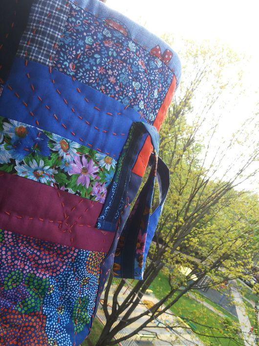 Женские сумки ручной работы. Ярмарка Мастеров - ручная работа. Купить Бабочки, сумка стеганая. Handmade. Синий, сумка для города