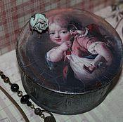 """Для дома и интерьера ручной работы. Ярмарка Мастеров - ручная работа Шкатулочка """" Портрет мальчика клоуна"""". Handmade."""