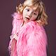 Одежда для девочек, ручной работы. Ярмарка Мастеров - ручная работа. Купить Розовая шубка. Handmade. Розовый, розовая шуба