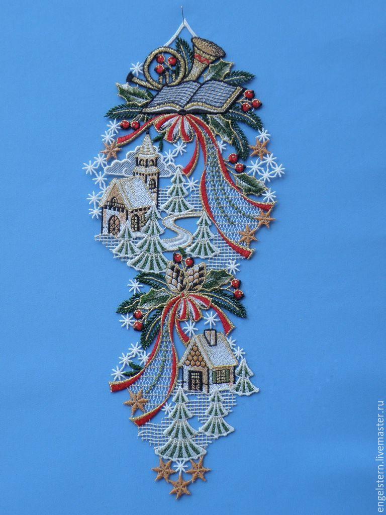 """Кружевное пано для окон  """" Лесные домики"""", Pictures, Gera,  Фото №1"""