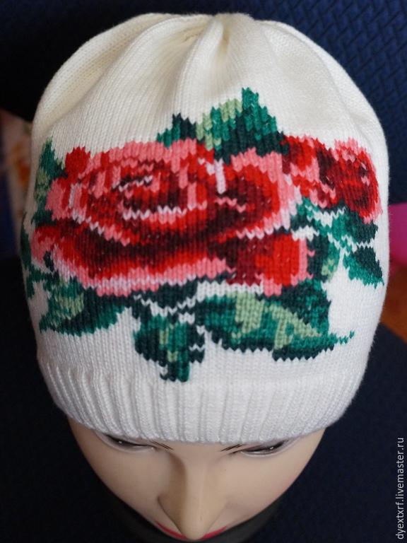 вышитые картинки на шапку красиві