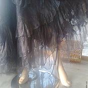 """Одежда ручной работы. Ярмарка Мастеров - ручная работа Юбка стиль  бохо на запахе  """"Серо-платиновая"""". Handmade."""