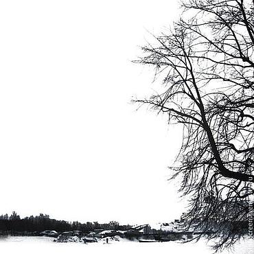 Картины и панно ручной работы. Ярмарка Мастеров - ручная работа Зимняя графика. Handmade.