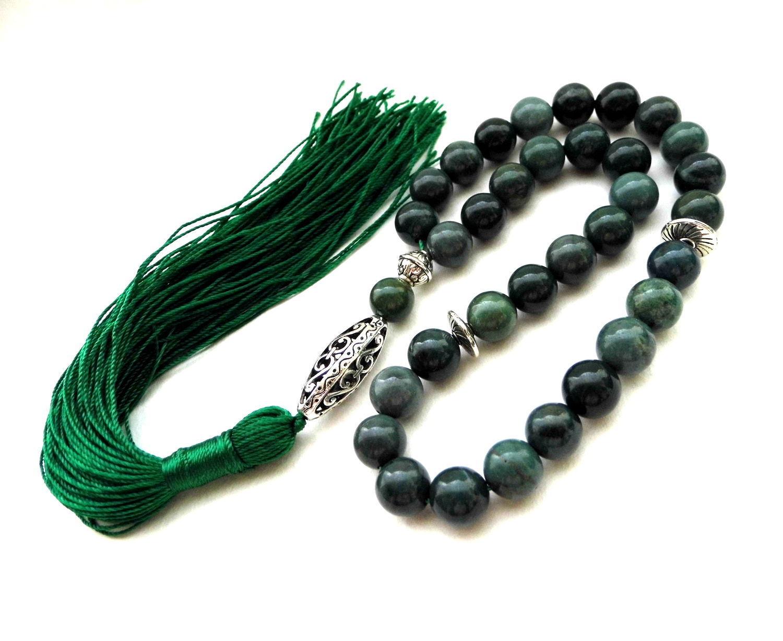 """Четки ручной работы. Ярмарка Мастеров - ручная работа. Купить Четки из яшмы  """"Голос без слов..."""" 33 камня с кистью зеленые. Handmade."""