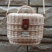 Для дома и интерьера ручной работы. Ярмарка Мастеров - ручная работа Плетёная сумочка косметичка или детская сумочка. Handmade.