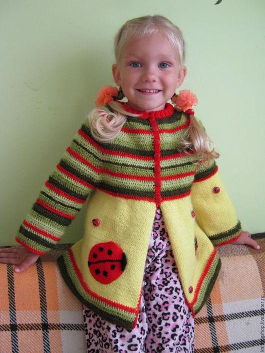 Одежда для девочек, ручной работы. Ярмарка Мастеров - ручная работа. Купить Детская кофточка. Handmade. Комбинированный, вязание на заказ, девочкам