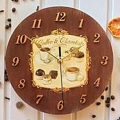 """Для дома и интерьера ручной работы. Ярмарка Мастеров - ручная работа Часы """"Coffee and chocolate"""". Handmade."""