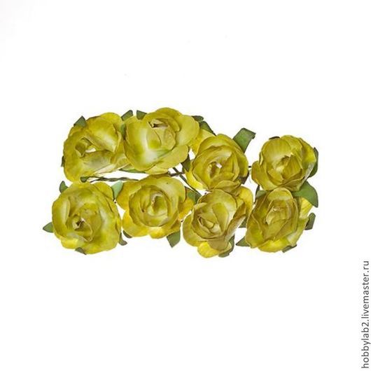 Открытки и скрапбукинг ручной работы. Ярмарка Мастеров - ручная работа. Купить Розы из бумаги ЗЕЛЕНЫЕ. Handmade. Цветы бумажные, розовые