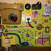 Куклы и игрушки ручной работы. Ярмарка Мастеров - ручная работа Развивающая доска.Бизиборд 1,2,3. Handmade.