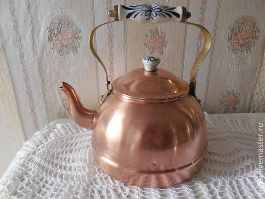 Винтажная посуда. Ярмарка Мастеров - ручная работа. Купить Винтажный медный чайник, Голландия. Handmade. Коричневый, латунь