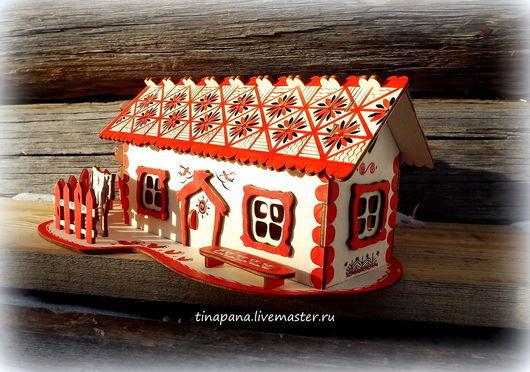 Кухня ручной работы. Ярмарка Мастеров - ручная работа. Купить Чайный домик. Handmade. Ярко-красный, подарок
