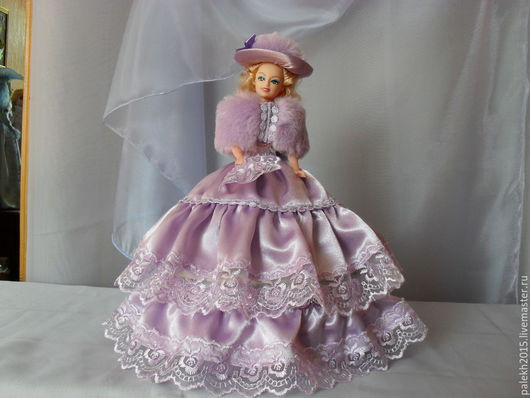 Персональные подарки ручной работы. Ярмарка Мастеров - ручная работа. Купить Кукла шкатулка. Handmade. Сиреневый, подарок на любой случай