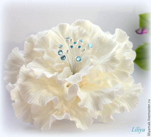 Заколки ручной работы. Ярмарка Мастеров - ручная работа. Купить Фантазийный цветок для украшения прически ( зажим для волос). Handmade.