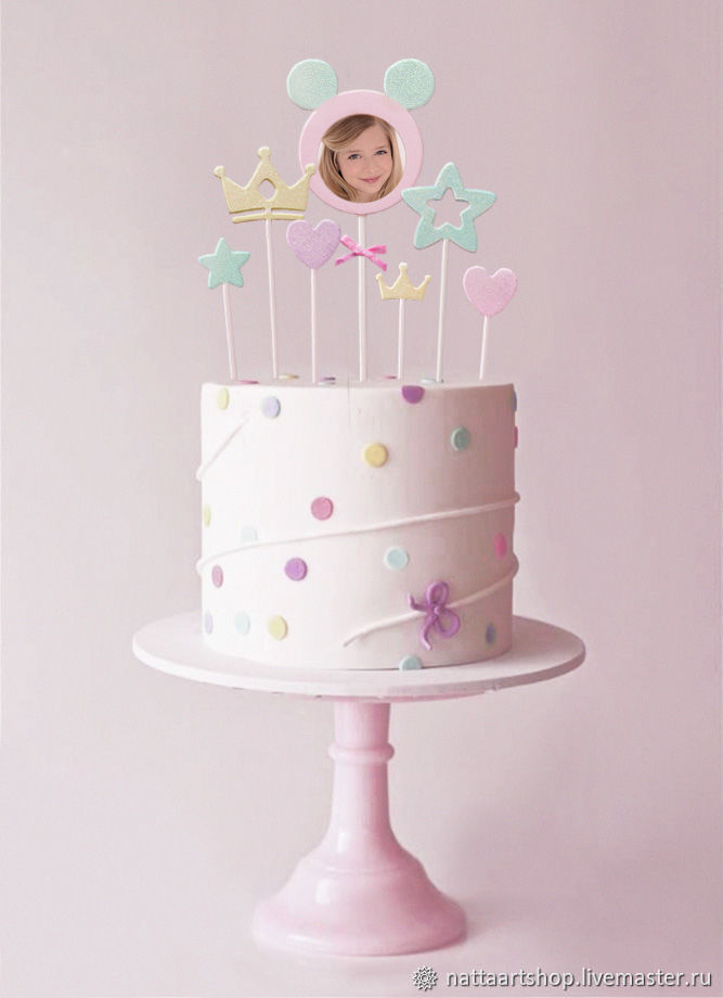 Topper for a cake with a baby photo,, Toppers, Moscow,  Фото №1