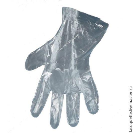 Другие виды рукоделия ручной работы. Ярмарка Мастеров - ручная работа. Купить Перчатки п/э одноразовые на руку взрослого человека. Handmade.