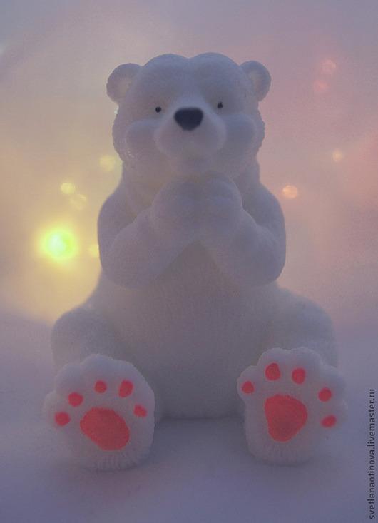Мыло ручной работы. Ярмарка Мастеров - ручная работа. Купить Мишка полярный. Handmade. Медведь, мыло ручной работы, мишка