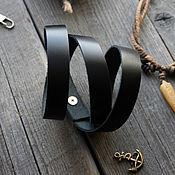 Украшения handmade. Livemaster - original item The bracelet is wrapped in leather. Handmade.