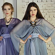 Одежда ручной работы. Ярмарка Мастеров - ручная работа Платье из шифона Звезда голубое, вечернее коктельное платье. Handmade.