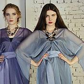 Одежда handmade. Livemaster - original item Chiffon dress is the Star blue, evening cocktail dress. Handmade.