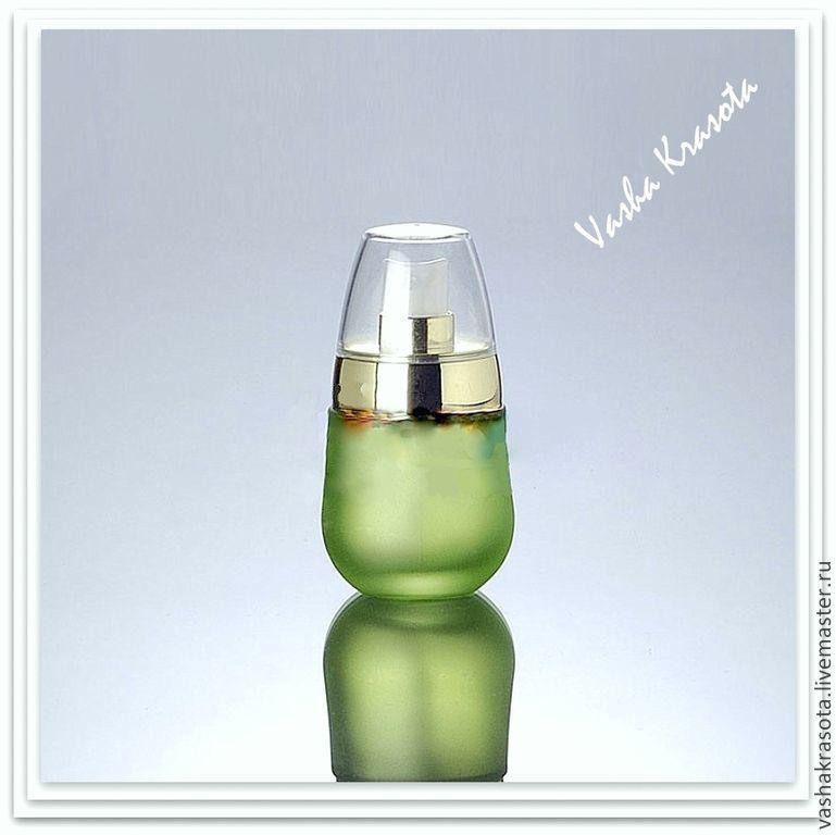 Упаковка ручной работы. Ярмарка Мастеров - ручная работа. Купить Дозатор стеклянный 30 мл зеленый. Handmade. Банка, стекло