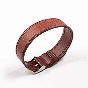 Украшения handmade. Livemaster - original item Solid Burgundy Genuine leather strap. Handmade.