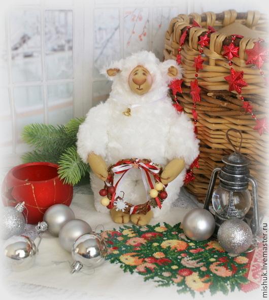 Куклы Тильды ручной работы. Ярмарка Мастеров - ручная работа. Купить сНЕЖНЫЙ барашек тильда. Handmade. Тильда, овечка, синтепон