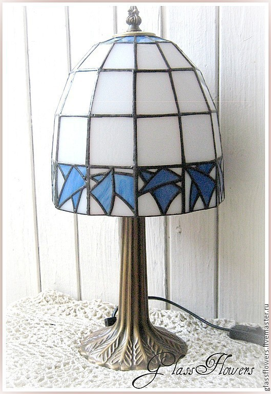 Lamps handmade. Livemaster - handmade. Buy Lamp Stained Glass.Lamp, expensive gift, gift to buy, glass, blue