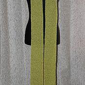 """Аксессуары ручной работы. Ярмарка Мастеров - ручная работа Шарф """"Зеленая искорка"""". Handmade."""