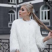Одежда handmade. Livemaster - original item Coat under the white Lama. Handmade.