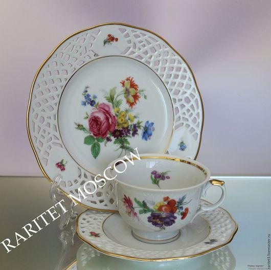 Винтажная посуда. Ярмарка Мастеров - ручная работа. Купить Чайная пара золото ARABELLA BAVARIA Германия 16. Handmade. Комбинированный