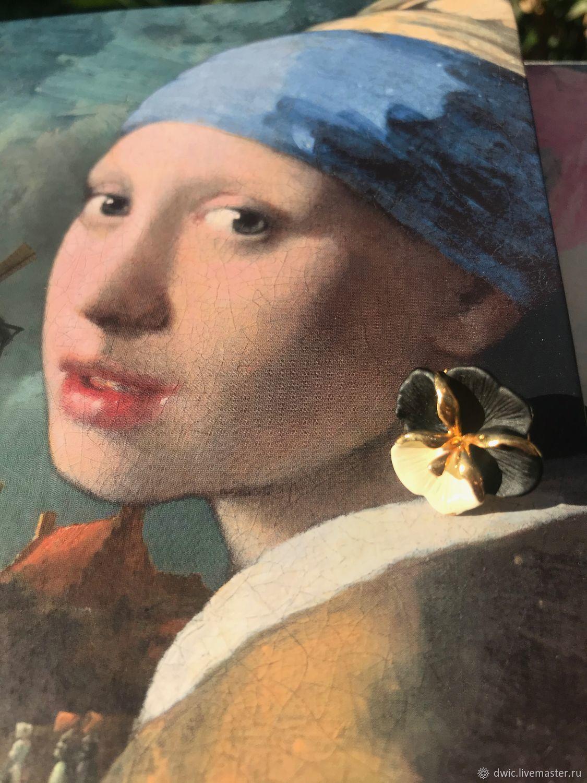 Earrings, Pusey 'Pansy,' Europe, Vintage earrings, Arnhem,  Фото №1