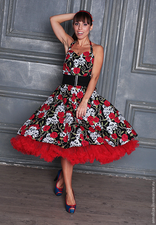 Dress 'Skull and roses', Dresses, Moscow,  Фото №1
