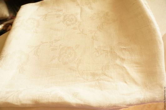 Винтажные предметы интерьера. Ярмарка Мастеров - ручная работа. Купить Скатерть лен винтажная. Handmade. Винтаж, скатерть, льняная скатерть