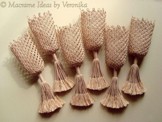 """Дизайн интерьеров ручной работы. Ярмарка Мастеров - ручная работа. Купить """"Elegance"""", сетки для бильярдных луз, комплект, макраме. Handmade."""