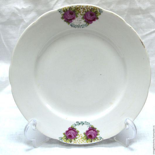 """Винтажная посуда. Ярмарка Мастеров - ручная работа. Купить Тарелочка для второго """" Розы """". Handmade. Комбинированный, винтаж, подарок"""