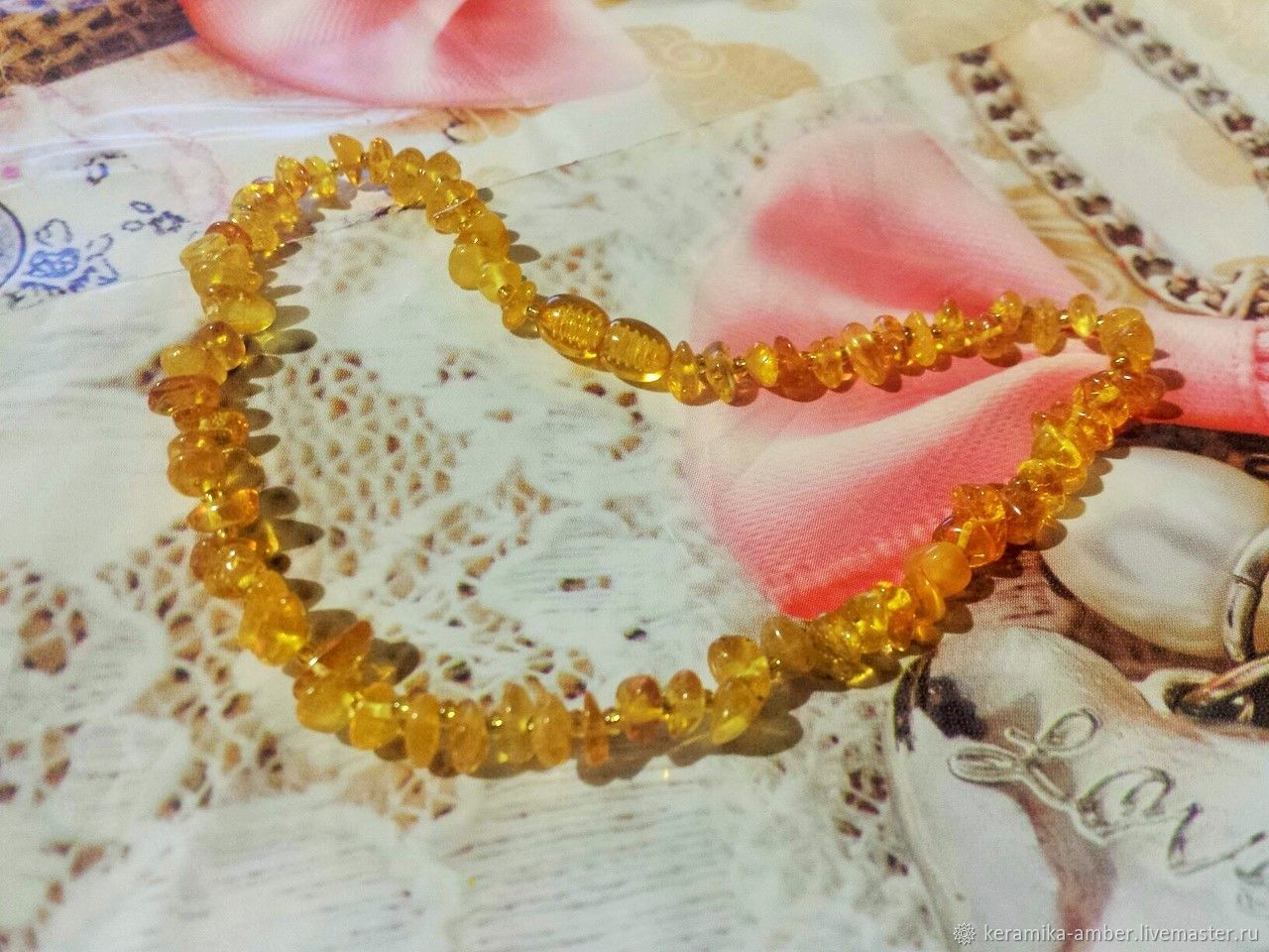 beads: Baby amber beads gift decoration for girl 35cm, Beads2, Kaliningrad,  Фото №1
