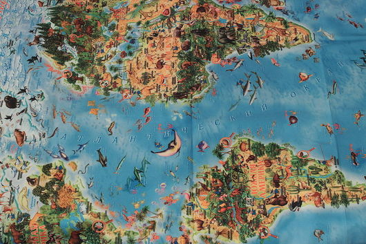 Развивающие игрушки ручной работы. Ярмарка Мастеров - ручная работа. Купить Детская карта мира. Handmade. Карта, детская карта