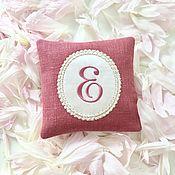 Сувениры и подарки handmade. Livemaster - original item A sachet pillow with an embroidery of Your monogram. Handmade.