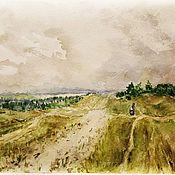 handmade. Livemaster - original item Painting Style Levitan Landscape Russian Field Nature. Handmade.